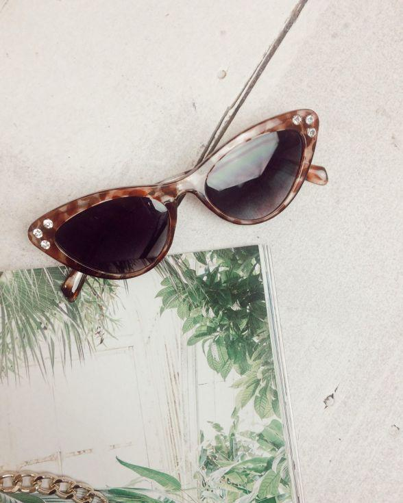 Camille Cat Eye Gem Detail Sunglasses