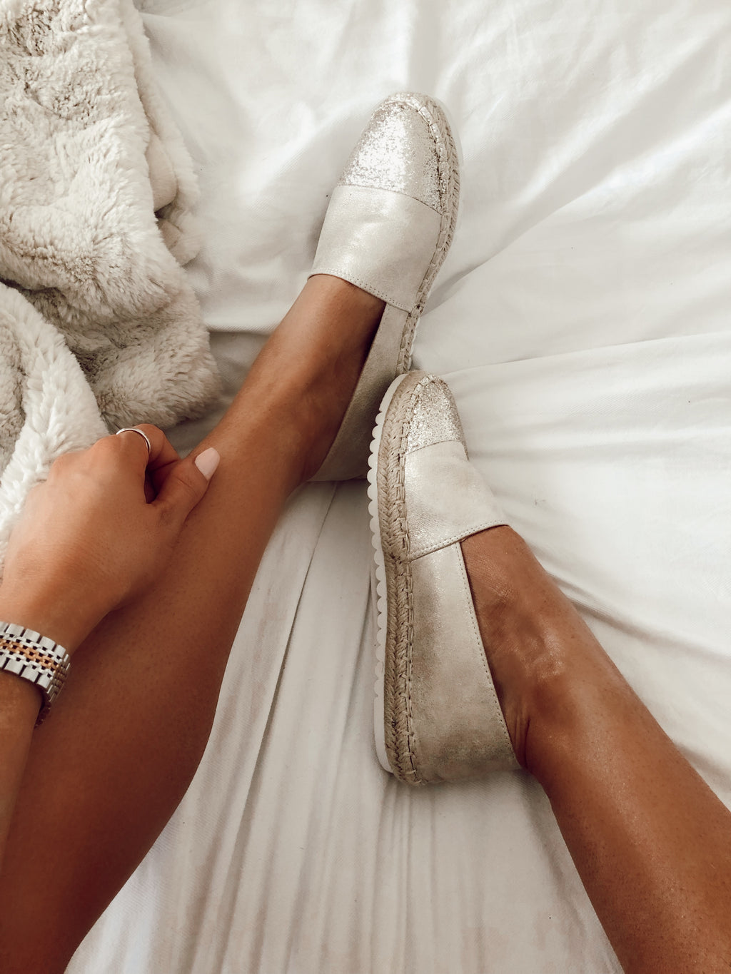 Sweet Life Espadrilles in Champagne