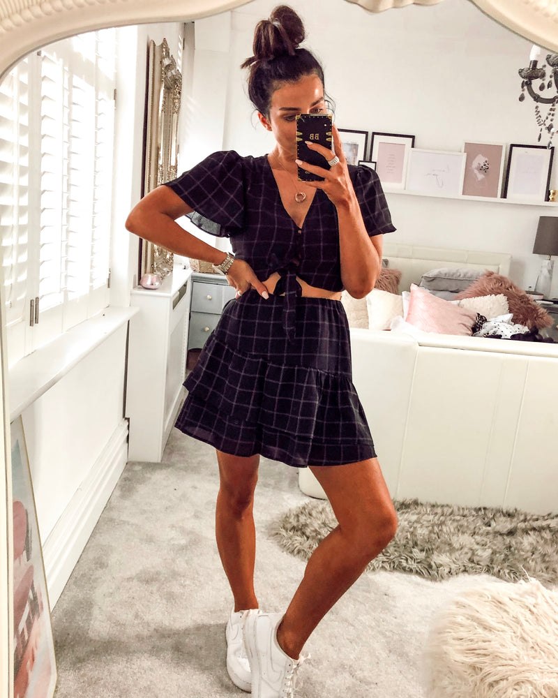 Tomorrow Night Co-Ord in Black Check