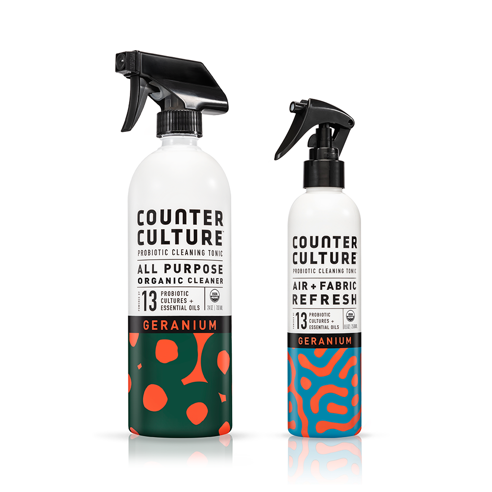 Geranium All Purpose Cleaner, Geranium Air + Fabric Refresh by Counter Culture Clean