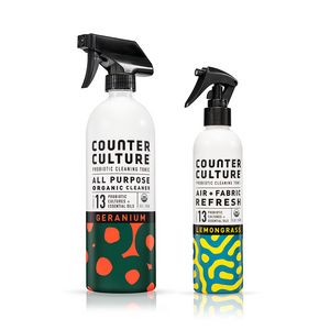 Geranium All Purpose Cleaner, Lemongrass Air + Fabric Refresh by Counter Culture Clean by Counter Culture Clean