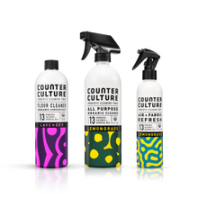 Load image into Gallery viewer, Lemongrass All Purpose Cleaner, Lemongrass Air + Fabric Refresh, Lavender Floor Cleaner by Counter Culture Clean by Counter Culture Clean