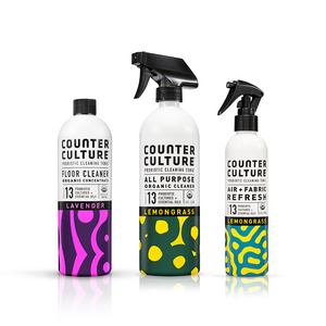 Lemongrass All Purpose Cleaner, Lemongrass Air + Fabric Refresh, Lavender Floor Cleaner by Counter Culture Clean by Counter Culture Clean