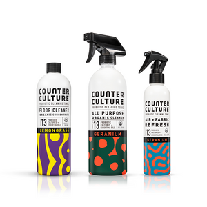 Geranium All Purpose Cleaner, Geranium Air + Fabric Refresh, Lemongrass Floor Cleaner by Counter Culture Clean by Counter Culture Clean