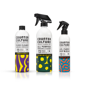 Lemongrass All Purpose Cleaner, Geranium Air + Fabric Refresh, Lemongrass Floor Cleaner  by Counter Culture Clean by Counter Culture Clean