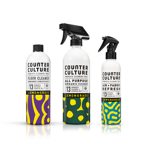 Lemongrass All Purpose Cleaner, Lemongrass Air + Fabric Refresh, Lemongrass Floor Cleaner by Counter Culture Clean by Counter Culture Clean