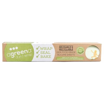 Agreena Reusable Silicone Food Wraps – Wrap, Seal & Bake