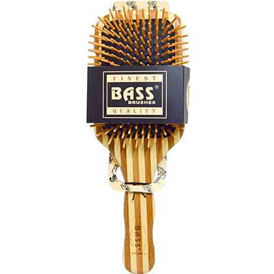 Bamboo Wooden Hairbrush - Large Paddle | Bass Brushes
