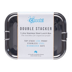 Double Stacker Stainless Steel Lunchbox (1L) | Cheeki