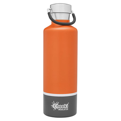 Orange Grey Insulated Water Bottle (600ml) | Cheeki