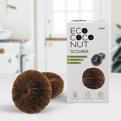Biodegradable Scourers - Twin Pack | EcoCoconut
