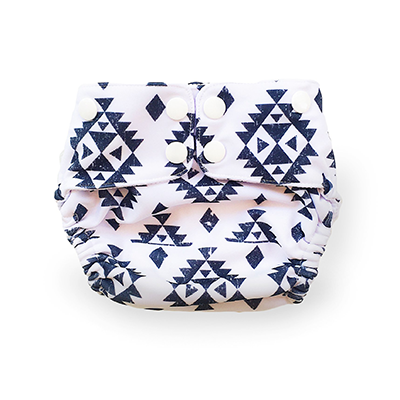 Reusable Swim Nappy - Aztec Black | EcoNaps