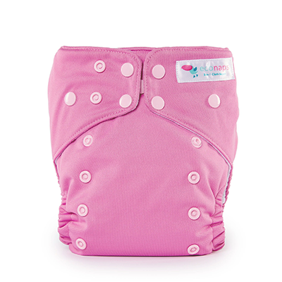 Reusable Cloth Nappy - Candy Pink | EcoNaps
