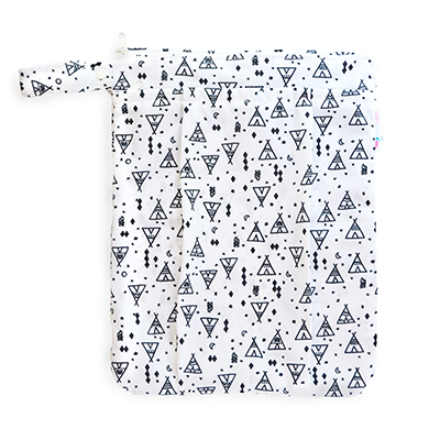 Double Pocket Wet Bag - Tipi Dreaming | EcoNaps