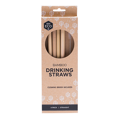 Bamboo Straws - 4pk | Ever Eco
