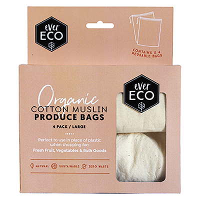 Ever Eco Organic Cotton Muslin Produce Bags
