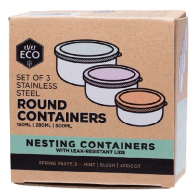 Stainless Steel Nesting Containers | Ever Eco