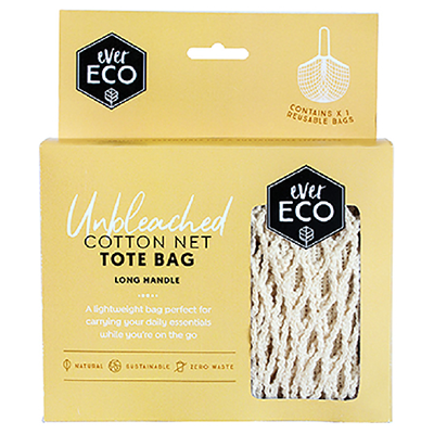 Cotton Net Tote - Long Handle | Ever Eco