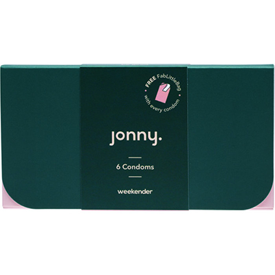 Jonny Natural Vegan Condoms - Weekender 6 Pack