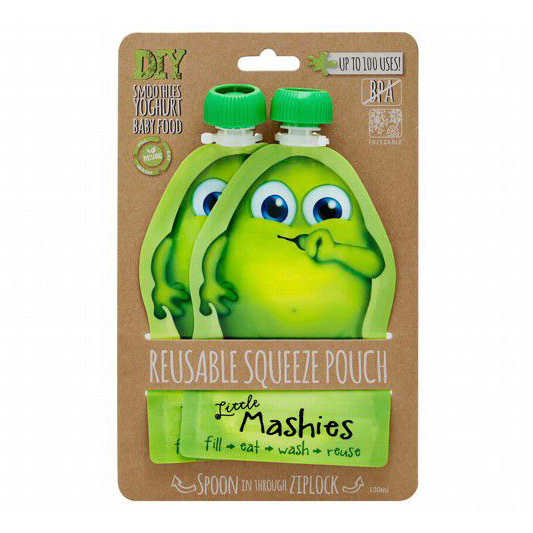 Reusable Food Pouch - Green | Little Mashies