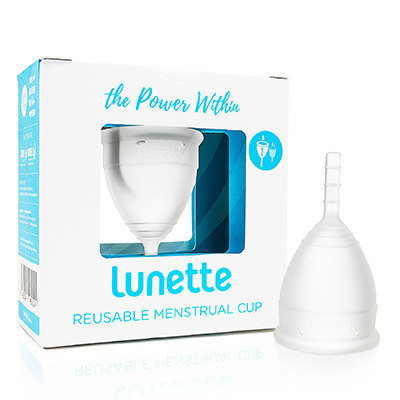 Lunette Menstrual Cup - Clear Model 1
