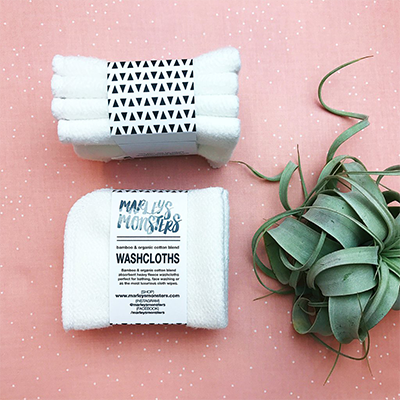 Reusable Bamboo Washcloths | Marleys Monsters