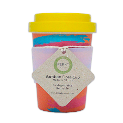 Bamboo Coffee Cup - Peachy 12oz | Perky By Nature