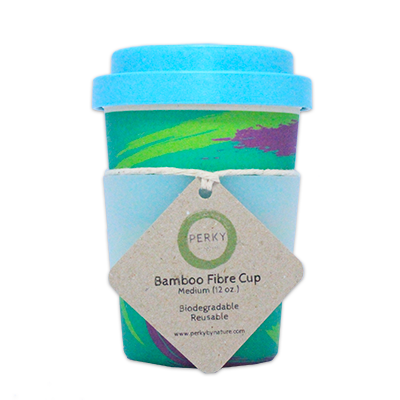 Bamboo Coffee Cup - Planet 12oz | Perky By Nature