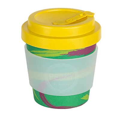 Bamboo Coffee Cup - Planet 8oz | Perky By Nature