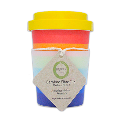 Perky By Nature Bamboo Coffee Cup - Pride 12oz