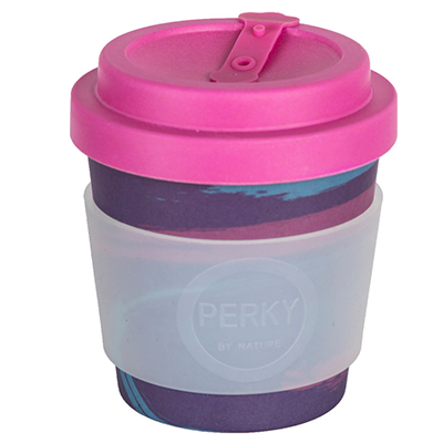 Perky By Nature Bamboo Coffee Cup - Purple 8oz