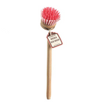 RetroKitchen Timber Retro Dish Brushes - Raspberry
