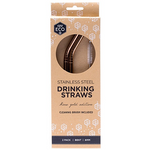 Rose Gold Straw - 2pk Bent | Ever Eco