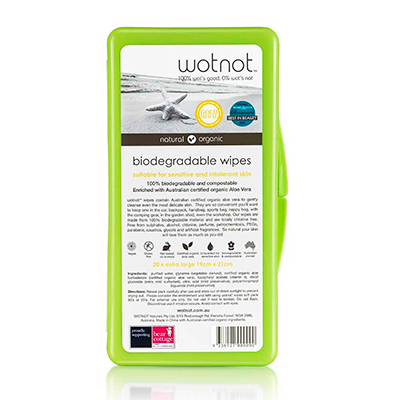 Wotnot Biodegradable Baby Wipes Travel Case