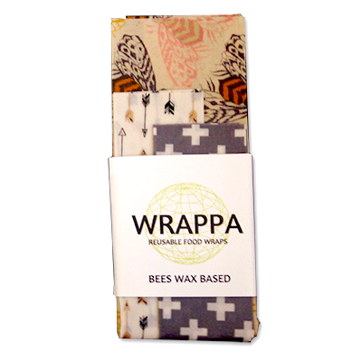 WRAPPA beeswax food wraps - ochre bees