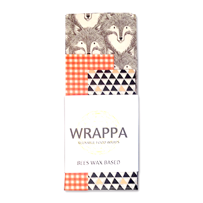 Beeswax Wraps - Grey Wolf | WRAPPA