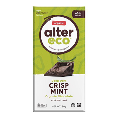 Alter Eco Vegan Chocolate Bar - Deep Dark Crisp Mint
