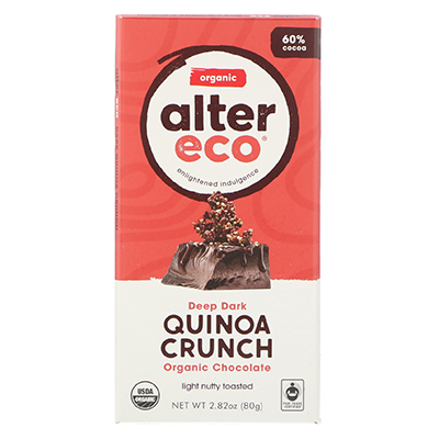 Vegan Chocolate Bar - Deep Dark Quinoa Crunch | Alter Eco