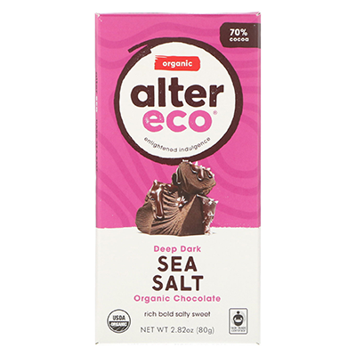 Vegan Chocolate Bar - Dark Sea Salt | Alter Eco