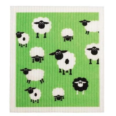 compostable eco-friendly sponge cloth Retrokitchen - sheep