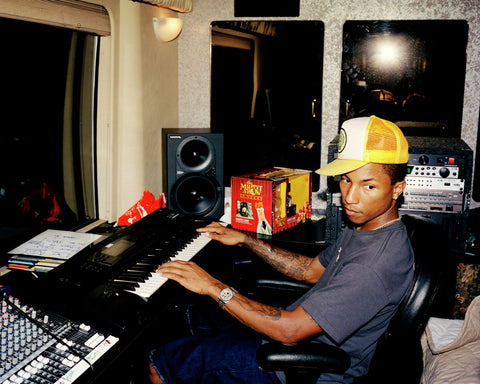 Pharrell Williams on the keys