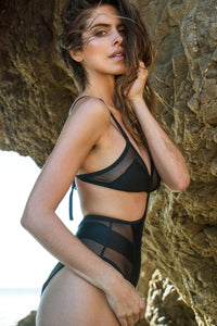 SARA MESH BODY ONE PIECE BLACK