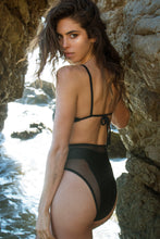 Load image into Gallery viewer, SARA MESH BODY ONE PIECE BLACK