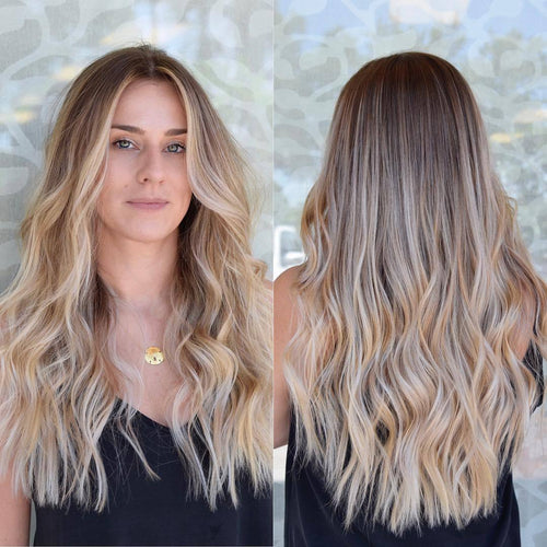 2019 beauty long natural Wave hair