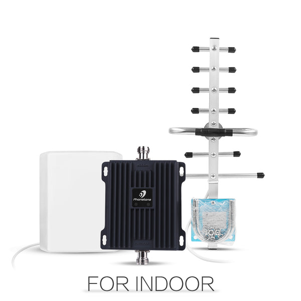 Cell Phone Signal Booster Dual Band 850MHz&1900MHz Panel and Yagi Antenna
