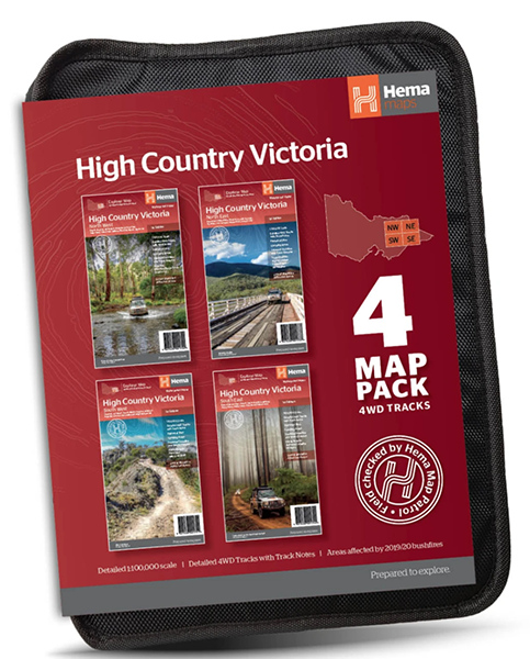 BRAND NEW Victorian High Country Map Pack from Hema Maps