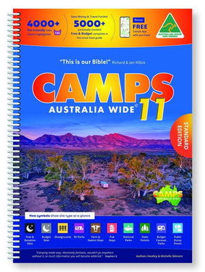 A Product Overview of the Brand NEW Camps 11 (A4 Spiral Bound) Guide Available on the Hema Maps Store