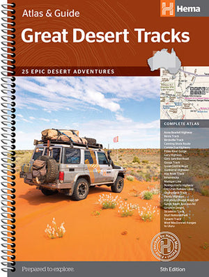 A Product Overview of the Great Desert Tracks Atlas & Guide (5th Edition) from Hema Maps