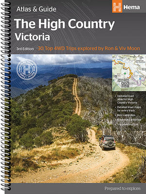 A Product Overview of the High Country Victoria Atlas & Guide (3rd Edition) from Hema Maps