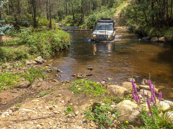 Ingeegoodbee Track River crossing Hema Maps Hema's Top 5 Victorian High Country 4X4 drives